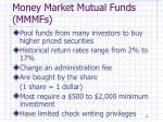 money market mutual funds mmmfs