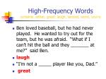high frequency words certainly either great laugh second worst you re