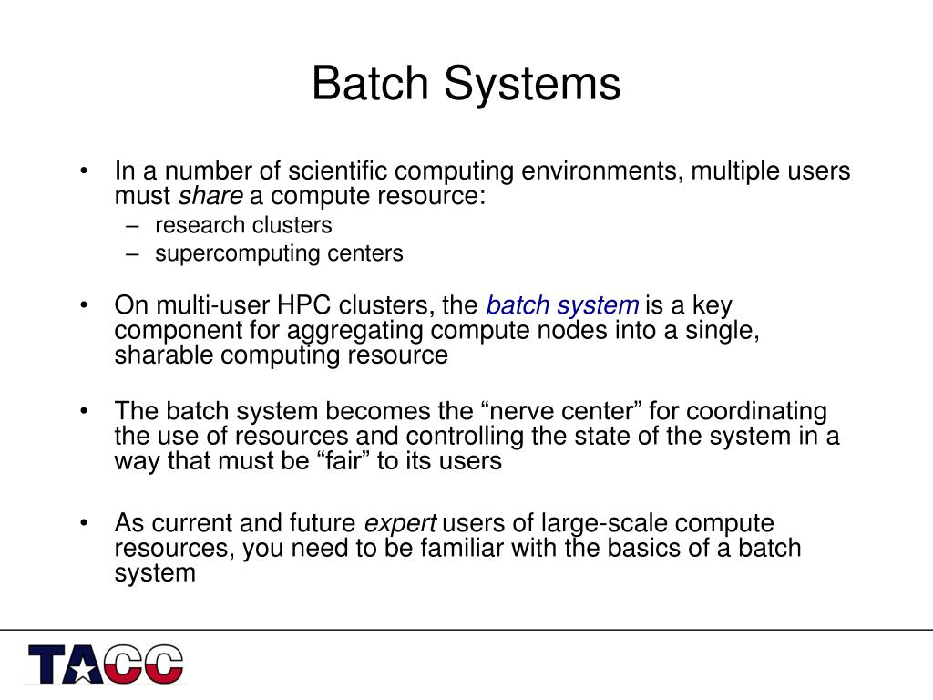 batch systems l.