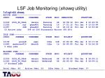 lsf job monitoring showq utility