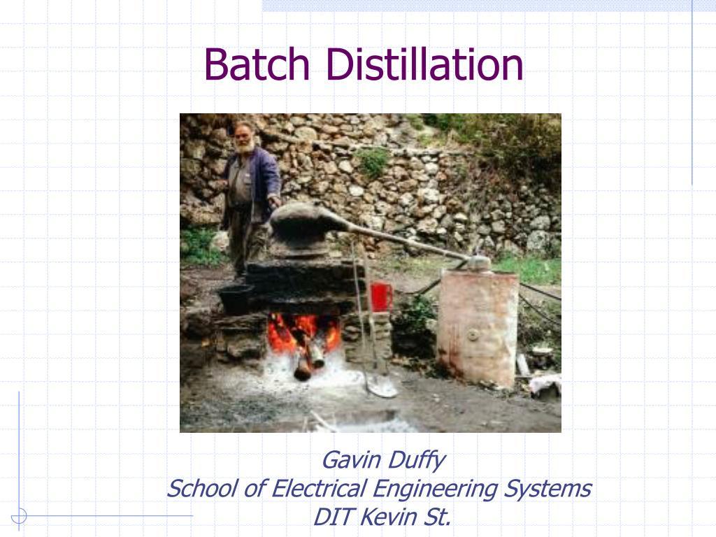 batch distillation l.