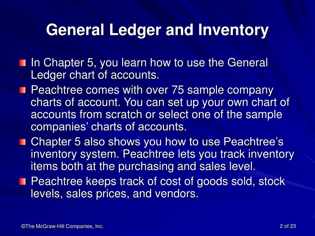 General Ledger and Inventory