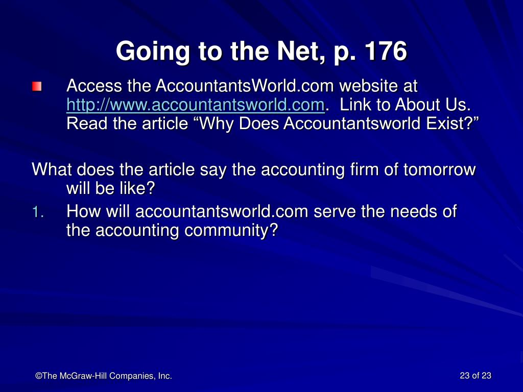 Going to the Net, p. 176