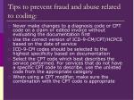 tips to prevent fraud and abuse related to coding