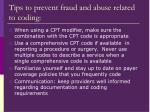 tips to prevent fraud and abuse related to coding1