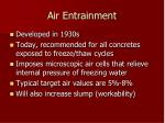 air entrainment