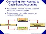 converting from accrual to cash basis accounting