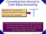 converting from accrual to cash basis accounting14