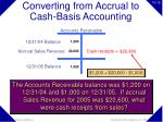 converting from accrual to cash basis accounting15