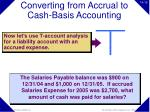 converting from accrual to cash basis accounting16