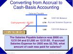 converting from accrual to cash basis accounting17