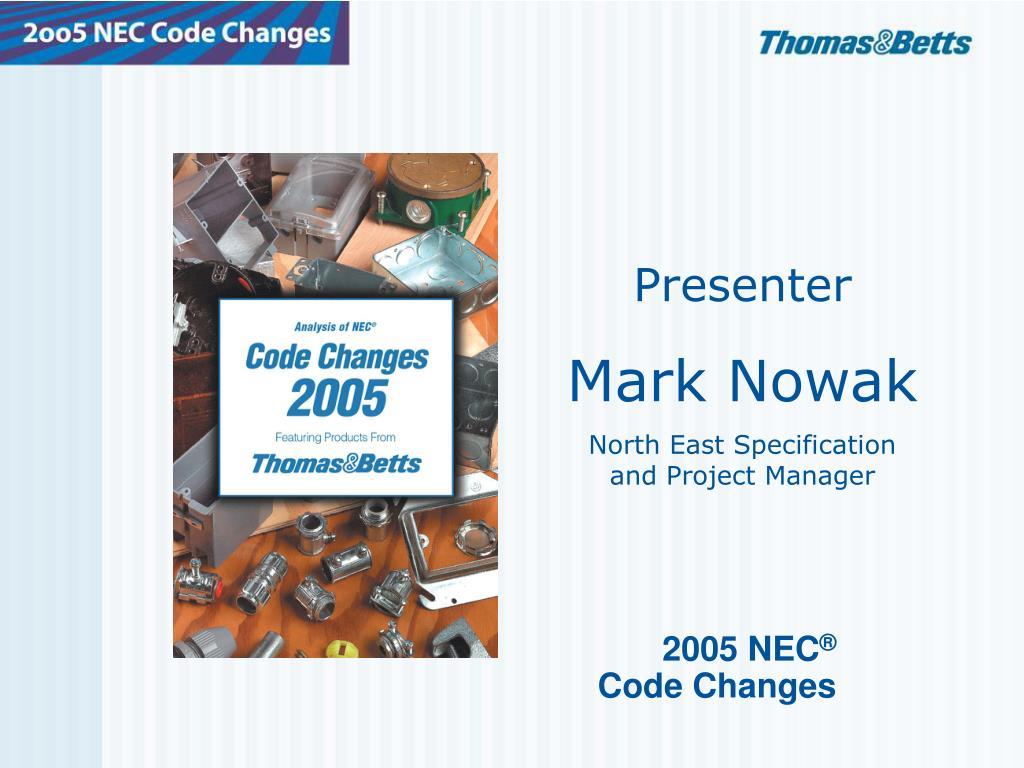 2005 nec code changes l.