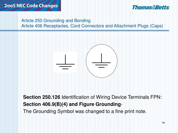 Article Grounding And Bonding Article Receptacles Cord Connectors And Attachment Plugs Caps N on article 250 grounding and bonding