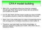 cfa model building