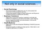 not only in social sciences