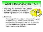 what is factor analysis fa