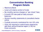 concentration banking program details