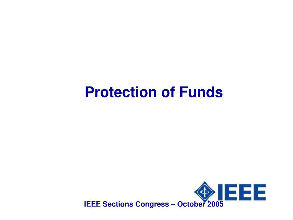 Protection of Funds