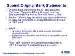 submit original bank statements