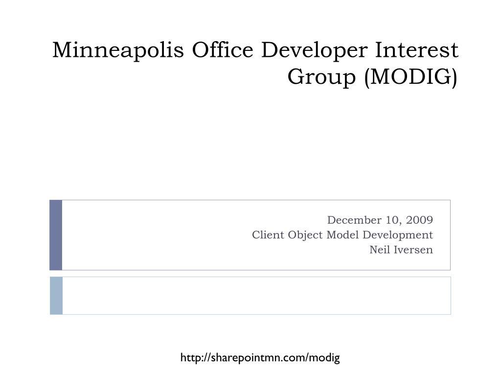 minneapolis office developer interest group modig l.