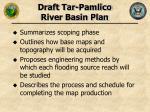draft tar pamlico river basin plan