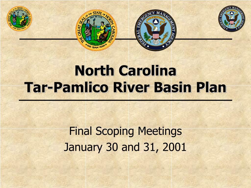 north carolina tar pamlico river basin plan l.