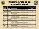 riverine areas to be studied in detail24
