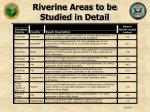 riverine areas to be studied in detail26