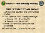 step 4 final scoping meeting