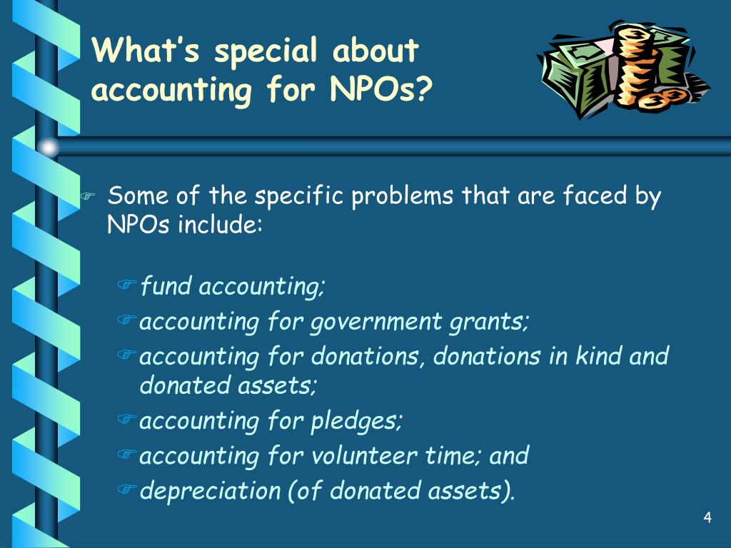 What's special about accounting for NPOs?