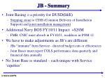 jb summary