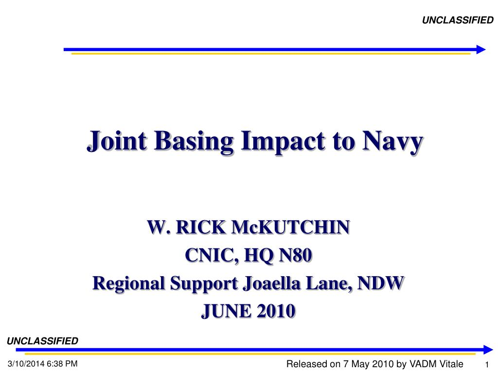joint basing impact to navy l.