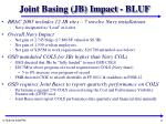 joint basing jb impact bluf