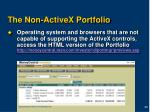 the non activex portfolio