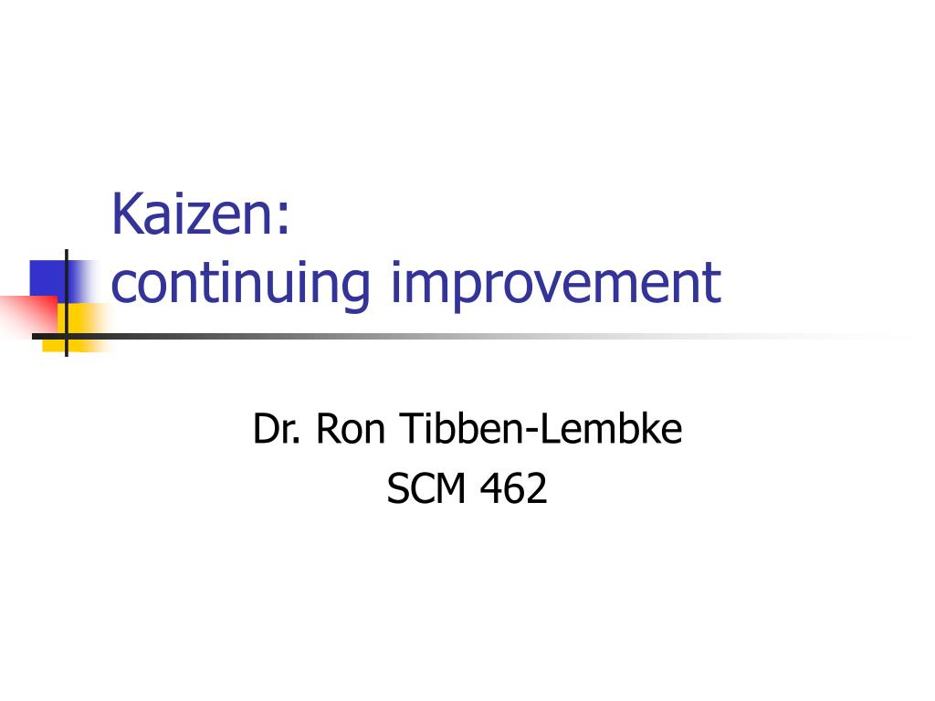 kaizen continuing improvement l.