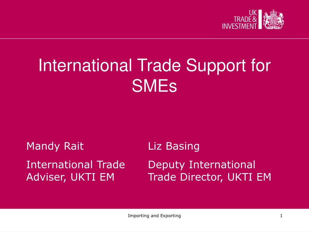 international trade support for smes l.