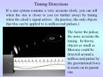 timing detections