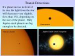 transit detections
