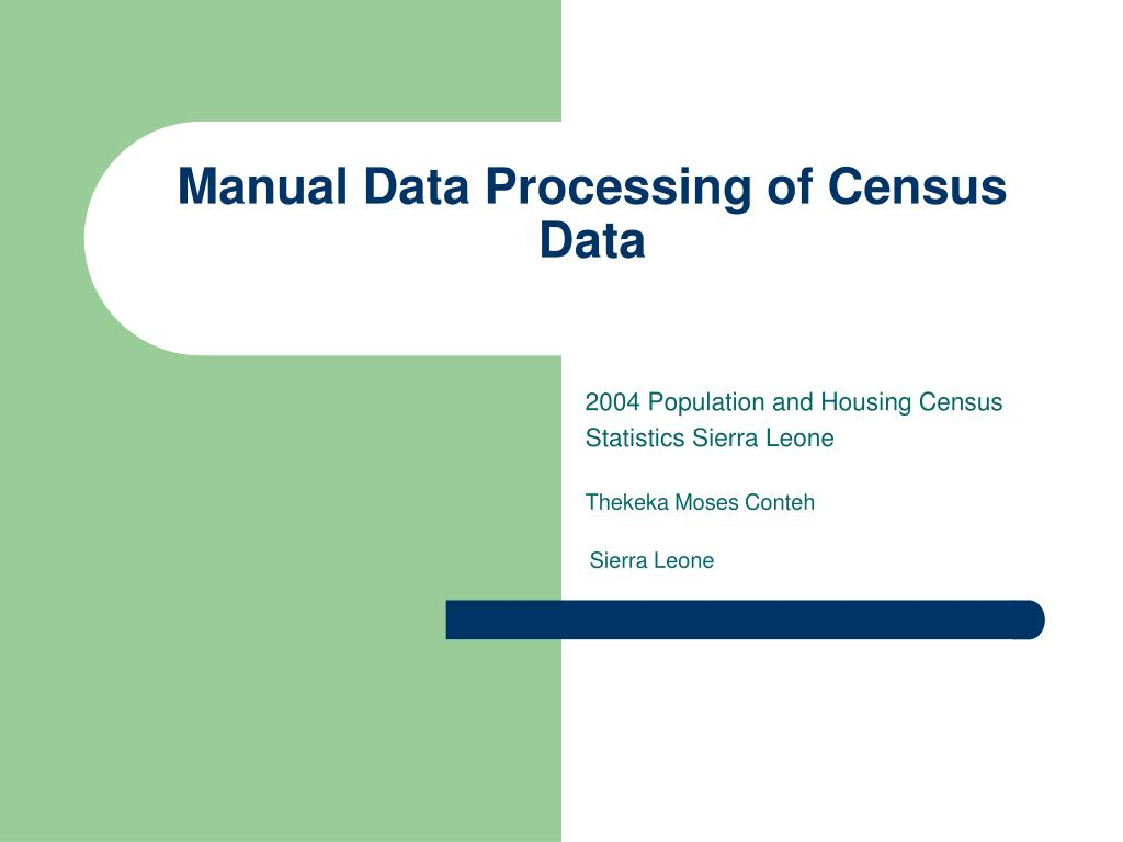 manual data processing of census data l.
