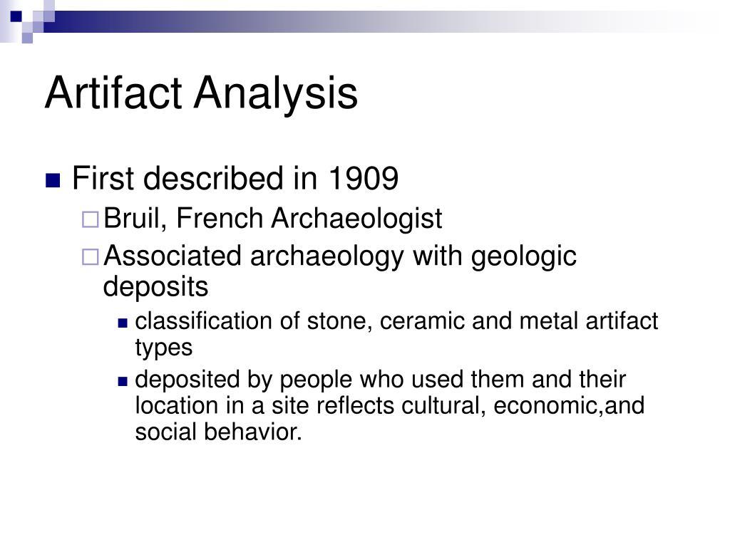 cultural artifact analysis
