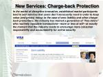 new services charge back protection