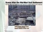 scene after the wal mart suit settlement