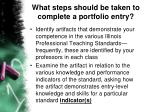 what steps should be taken to complete a portfolio entry