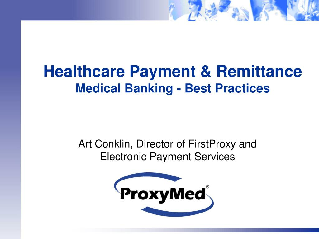 healthcare payment remittance medical banking best practices l.