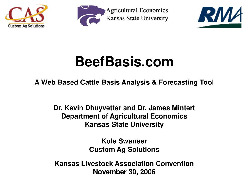 beefbasis com a web based cattle basis analysis forecasting tool l.