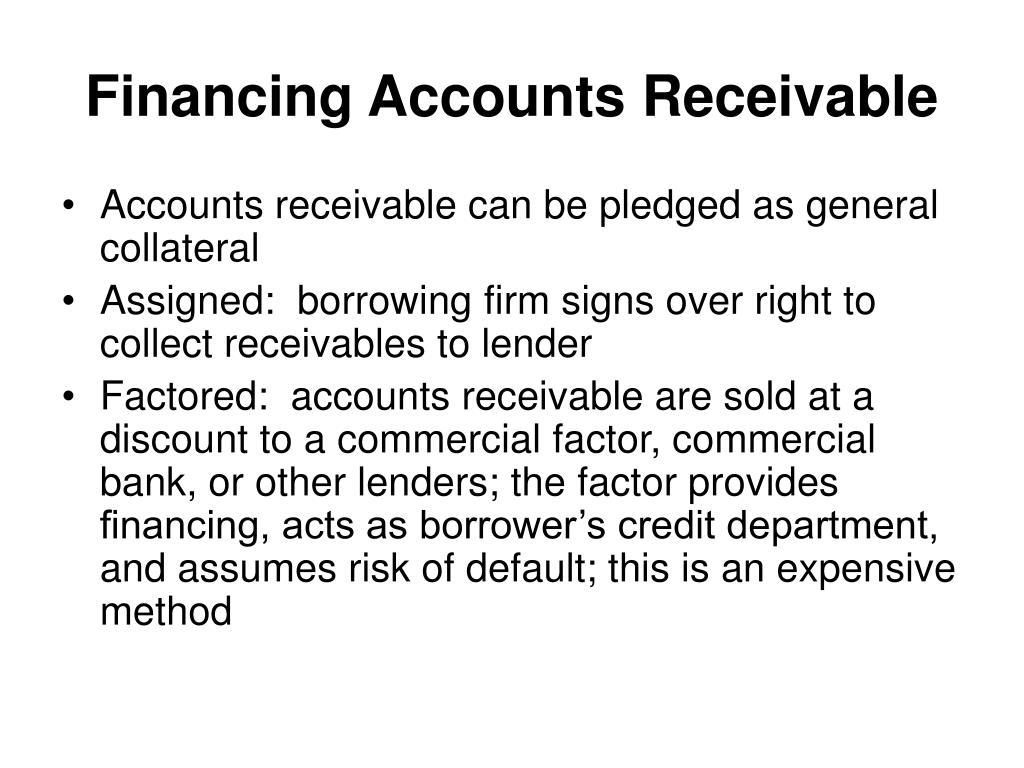 Financing Accounts Receivable