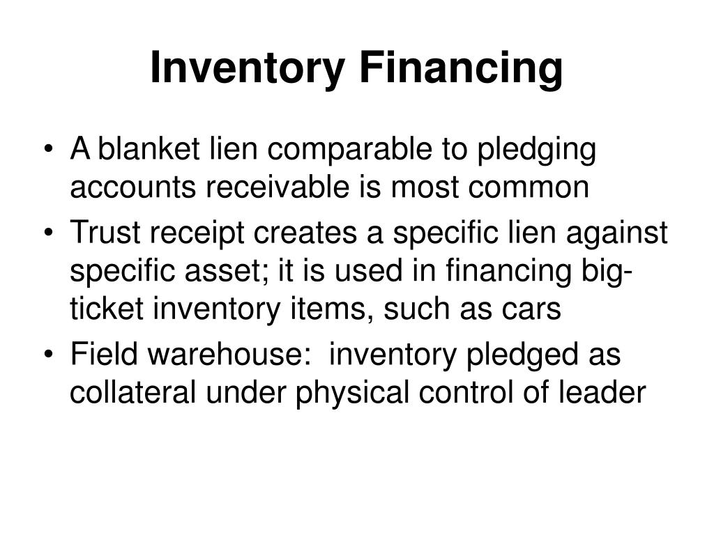 Inventory Financing