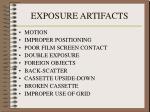 exposure artifacts