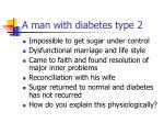 a man with diabetes type 2