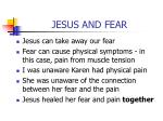jesus and fear